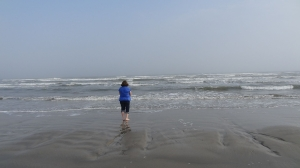 Shari on the beach