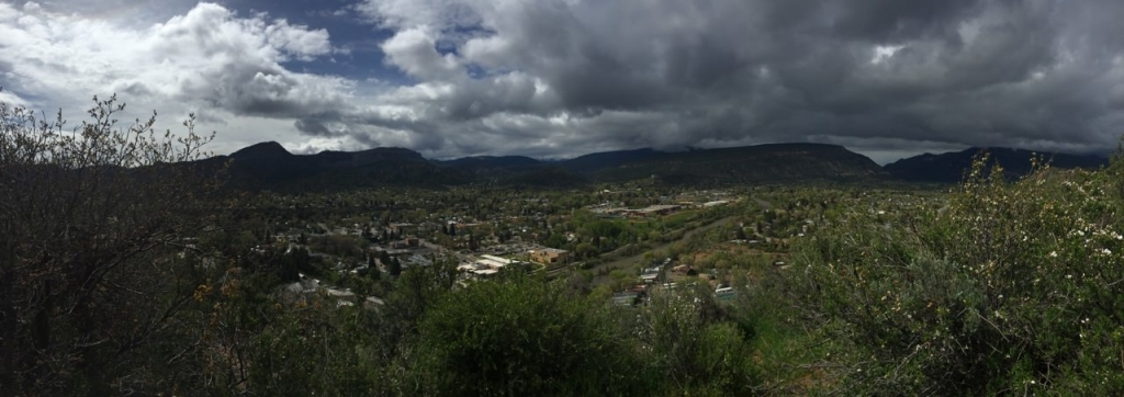 Bird's eye view of Durango, Colorado